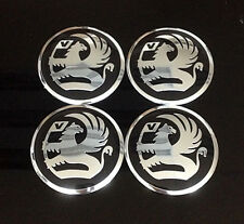 Wheel 56mm Center Cap Sticker Set 4pcs Vauxhall
