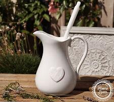 Toilettenbürste Keramik WC-Bürstengarnitur Herz Nostalgie Landhaus Shabby Clayre