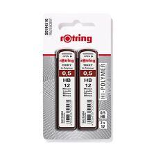 rotring Druckbleistift-Minen Tikky 0,5 mm, Härtegrad: HB  (2er Blister)