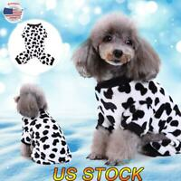 US Pet Dog Winter Warm Fleece Coat Puppy Cat Jacket Pajamas Clothes Outfits S-XL