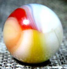 "Sweet Vitro Agate Trilite .64"" Stunning Yellow Red Blue Peach NM  #37"