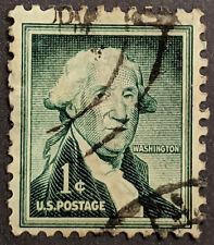 Stamp USA 1954 1c Liberty Issue George Washington Used