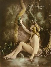 Charles Gilhousen Photo, Untitled Figure Sitting Near Tree, Art Nouveau, 1919