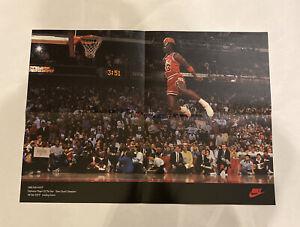 1988 Michael Jordan Wheaties Slam Dunk Nike Poster Vintage 23x16- A1