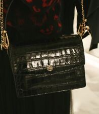 TORY BURCH ROBINSON EMBOSSED SHOULDER WOMEN`S BAG 58100 [BLACK] Tracking Number