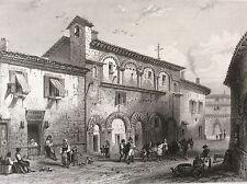 Couvent de la Foi à Périgueux estampe XIXe France par Rouargue 1853 France