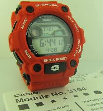 G-Shock Casio G7900A-4 with World Time Tide & Moon Data Red Resin Band Men Watch