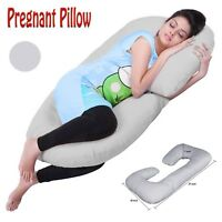 Pregnancy Pillow Maternity Belly Contoured Body C Shape Extra Pregnant - Gray PL