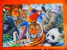 Parker Hilton 1000 Pc Deluxe Jigsaw Puzzle - ANIMAL KINGDOM - Wildlife Series