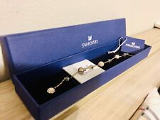 Swarovski Rose Gold Bracelet Remix Collection Strand Pearl Bead New in Gift Box