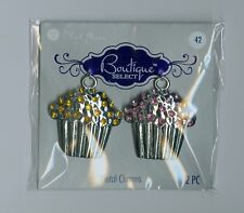 Blue moon sweet cupcake pendants. Set of 2.
