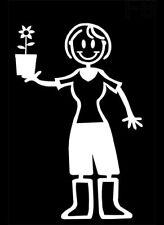 Figura de palo de mi familia Familia De Vinilo Ventana de Coche Ventana de Coche Pegatinas F8 Jardinería