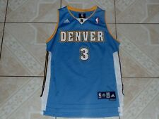 Ty Lawson Denver Nuggets Adidas NBA Basketball Jersey Sewn Logos Junior M New