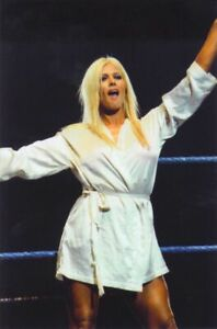 Torrie Wilson WWE White Robe PHOTO 4x6 8x10 (Select Size) #040