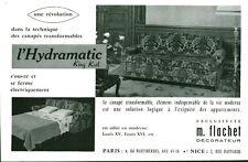 Publicité ancienne canapé américain Hydramatic M Flachet 1959  issue de magazine