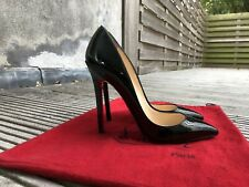 Authentic Black Patent CHRISTIAN LOUBOUTIN Pigalle 120 heels size 36