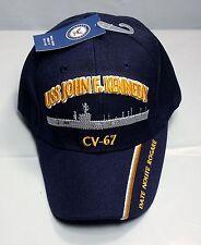USS John F Kennedy CV 67 CVA Ball Cap Embroidered US Navy Veteran Carrier Hat