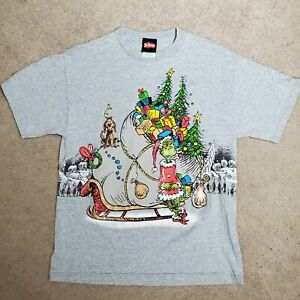 Vintage 2001 Dr Seuss The Grinch Stole Christmas T-Shirt Double Sided Size M