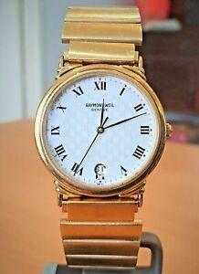 Vintage Raymond Weil GP white Roman dial Swiss V8 quartz watch