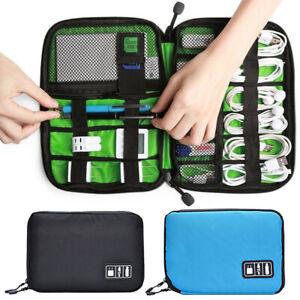 USB Flash Drives Case Organizer Bag Digital Storage Pouch Data Earphone Cable SM