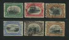 1901 US Stamps #294-299 Used Canceled Pan-American Exposition Issue Set