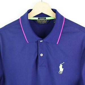Ralph Lauren Polo Golf Performance Mens Polo shirt size L Short Sleeve Blue