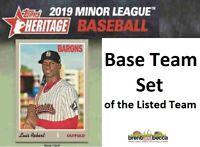 CINCINNATI REDS 2019 Topps Heritage Minor League BASE TEAM SET Heitler+