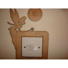 Fairy Standing With Wand Light Switch Surround - 3mm MDF Wooden Craft Blank