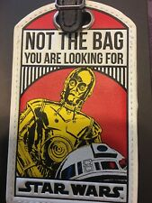 Disney STAR WARS - luggage tag, backpack, ID card on back - R2D2 AND CP30