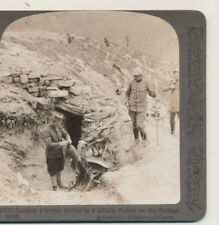 Load a French Mortar Hillside Dugout Serbian Front WWI Stereoview c1915
