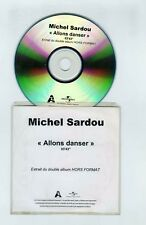 CDR PROMO SINGLE  MICHEL SARDOU ALLONS DANSER