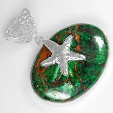17.49 Gram 925 SterlingSilver Natural Chrysocolla Womens Star Pendant Jewelry $