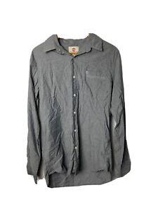 Timberland Men's Shirt Size S / P Slim Fit Grey Long Sleeve 100% Cotton