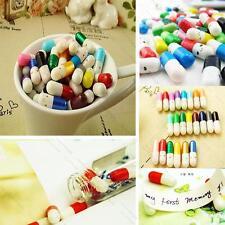 100Pcs L# Message in a Bottle Message Capsule Letter Cute Love Half Color Pill