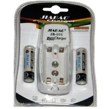 Carica Batterie Pile Stilo Ministilo AA AAA JB-006 + 2 Pile RIcaricabili hsb