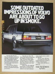 1986 Volvo 760 Turbo Intercooler sedan photo vintage print Ad
