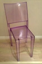 Lot de 5 chaises kartell Philippe stark  la marie mauve transparente