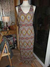 Aztec Liquorice Allsorts colours maxi dress Size 14 BNWOT holidays NOW REDUCED