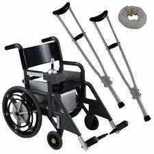 WC-BLK: 1/12 scale Wheelchair, 2 Crutches & Neck brace for Marvel Legends Mezco
