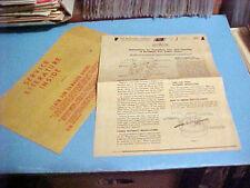 Vintage Devilbiss Two Gallon Paint Tanks Operation Instructions & Parts List
