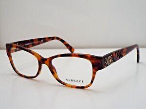 Authentic VERSACE VE3196 5074 Havana Eyeglasses Frame $275