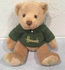 Harrods Knightsbridge Teddy Bear Plush Stuffed Animal Toy Green Polo Shirt Rare