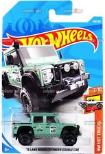 15 LAND ROVER DEFENDER DOUBLE CAB #158 green - 2018 Hot Wheels - G Case -