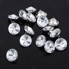 50pcs Crystal Satellite Buttons for DIY Sewing Craft Upholstery Crafts 25mm
