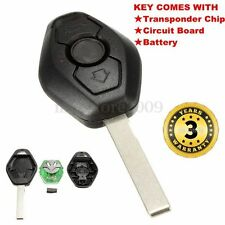 Remote Key Entry Fob Transmitter Uncut Blade For BMW X3 X5 3 series Replacement