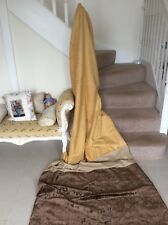 DOOR CURTAIN, EXTRA LONG, THERMAl, VELVET CHINELLE, BROWN, GOLD, BEIGE, WARM.