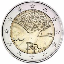 Frankreich 2 Euro Münze 70 Jahre Frieden Europa 2015 prägefrisch Gedenkmünze
