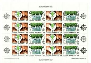 A  LOVELY MNH SHEETLET OF 16 STAMPS FROM GREECE 1986 EUROPA-CEPT, ENVIRONMENT