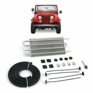 """1953-86 Jeep CJ DJ 13"""" Transmission Oil Fluid Cooler c240 ohc v8 super jamboree"""