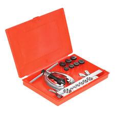 9pcs Double Pipe Flaring Tool Kit Set Tube Bender Repair Mechanic Plumber X4J1